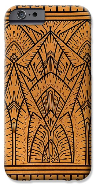 Design Tapestries - Textiles iPhone Cases - Design for a Pattern illustration from Studies in Design iPhone Case by Christopher Dresser