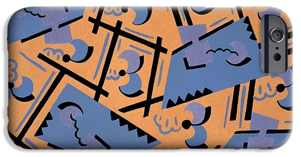 Pattern Tapestries - Textiles iPhone Cases - Design from Nouvelles compositions decoratives iPhone Case by Serge Gladky