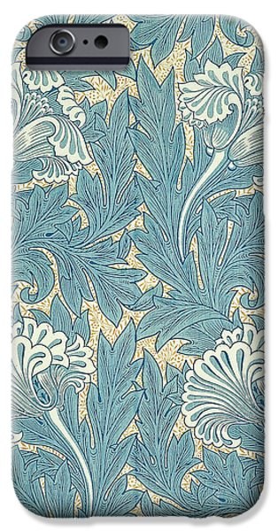 Design in Turquoise iPhone Case by William Morris