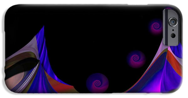 Graphic Design iPhone Cases - Design Spin 93 iPhone Case by Joe  Connors