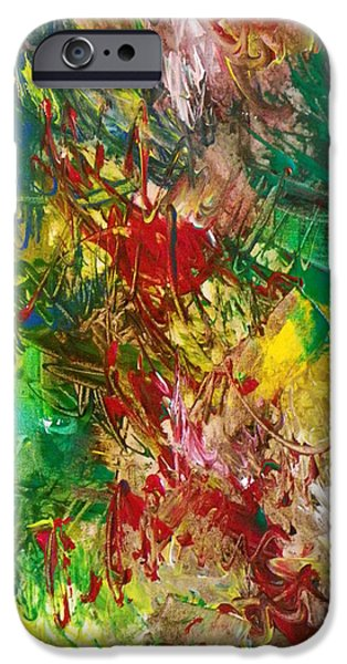 Abstract Expressionism iPhone Cases - Design35 iPhone Case by Ron Halfant