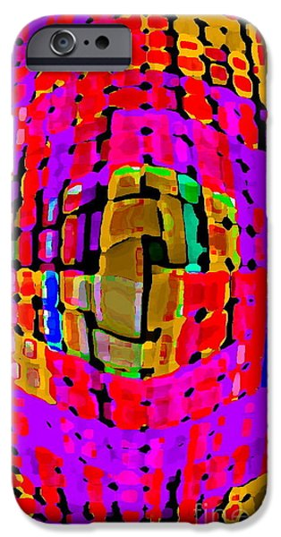 DESIGNER PHONE CASE ART COLORFUL RICH BOLD ABSTRACTS CELL PHONE COVERS CAROLE SPANDAU CBS ART 138 iPhone Case by CAROLE SPANDAU