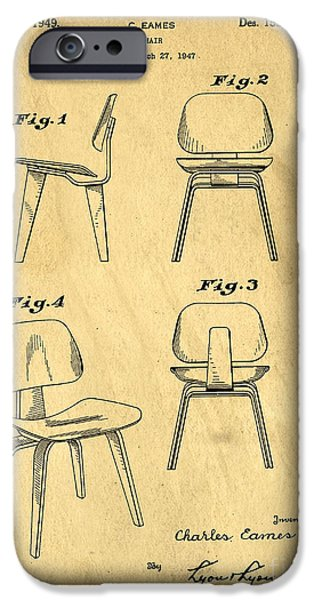 Furniture Photographs iPhone Cases - Designs for a Eames chair iPhone Case by Edward Fielding