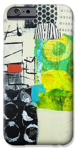 Abstractions iPhone Cases - Desintegration iPhone Case by Elena Nosyreva
