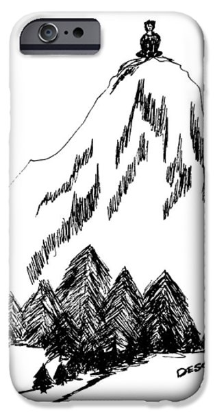 The Void iPhone Cases - Desolation Peak_Alone Time iPhone Case by Donna Haggerty