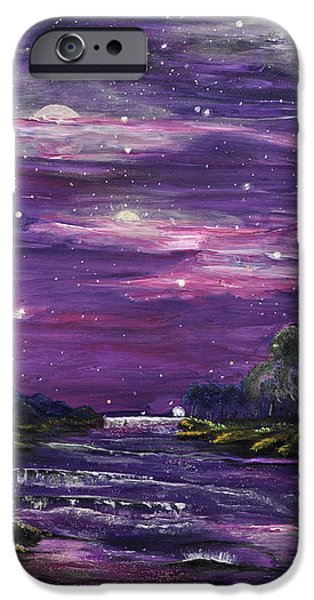 Stargazing Paintings iPhone Cases - Destination iPhone Case by Regina Wirsich Roberts