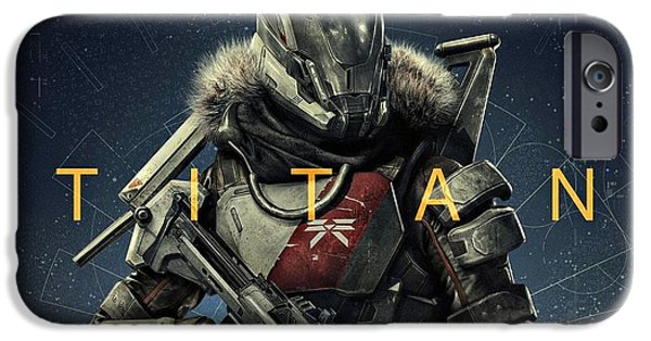 Destiny iPhone Cases - Destiny 2 Titan iPhone Case by Movie Poster Prints