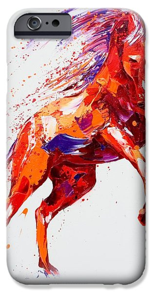 Horse iPhone Cases - Destiny iPhone Case by Penny Warden