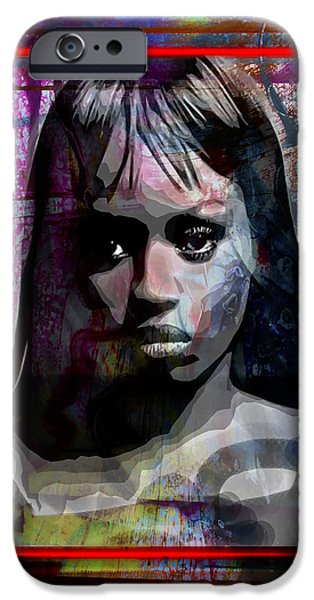 Turn Of The Century Mixed Media iPhone Cases - Destinys Child iPhone Case by Richard Arfsten