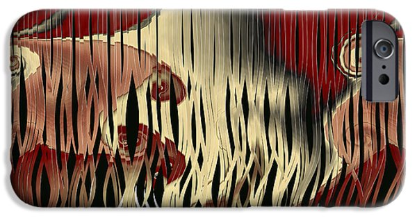 Flora Mixed Media iPhone Cases - Destruction Of The Earth Abstract iPhone Case by Georgiana Romanovna