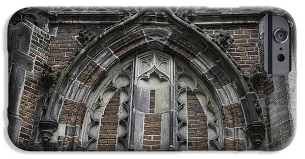 Weathervane Photographs iPhone Cases - Detail Above Door Oude Kerk Amsterdam iPhone Case by Teresa Mucha