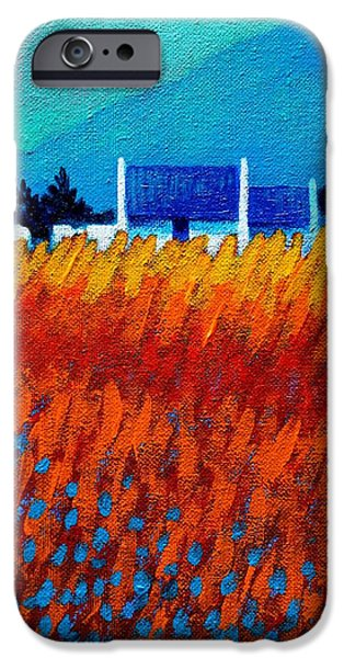Landscape Acrylic Prints iPhone Cases - Detail from Golden Wheat Field iPhone Case by John  Nolan