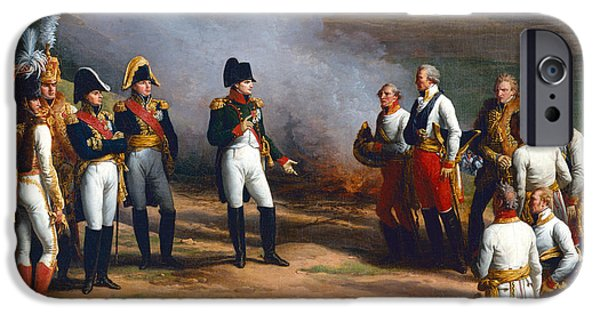 Negotiating iPhone Cases - Detail From The Surrender Of Ulm, 20th October, 1805 - Napoleon And The Austrian Generals, 1815 Oil iPhone Case by Charles Thevenin