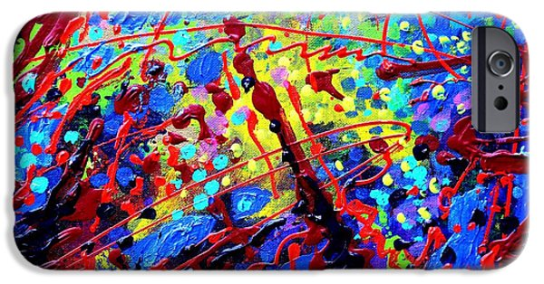 Abstract Expressionism iPhone Cases - Detail from   To Make Visible The Invisible  III iPhone Case by John  Nolan