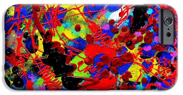Fine Art Abstract iPhone Cases - Detail from To Make Visible The Invisible  V iPhone Case by John  Nolan