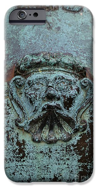 Weapons iPhone Cases - Detail of a bronze mortar iPhone Case by Edward Fielding