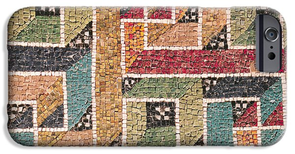Mosaic iPhone Cases - Detail of a frieze from the vault iPhone Case by Byzantine