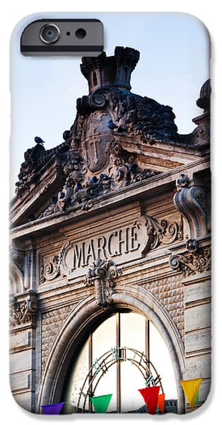 Languedoc iPhone Cases - Detail Of The Covered Market, Narbonne iPhone Case by Panoramic Images