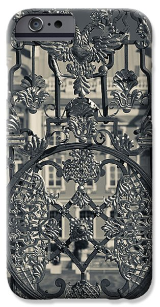 Catherine White Photographs iPhone Cases - Detail Of The Palace Gate, Catherine iPhone Case by Panoramic Images