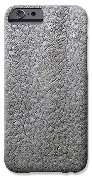 detail of the skin of an Indian rhinoceros in a zoo Netherlands iPhone Case by Ronald Jansen