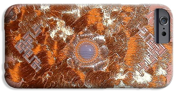 Abstractions Tapestries - Textiles iPhone Cases - Detail Vastness AT iPhone Case by Dan A  Barker
