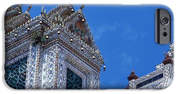 Mosaic iPhone Cases - Detail Wat Arun Bangkok Thailand iPhone Case by Panoramic Images