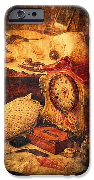 Jewellery Digital Art iPhone Cases - Antique Details iPhone Case by Maria Angelica Maira
