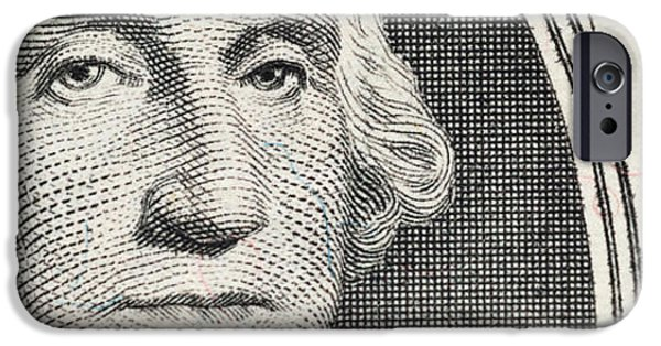 President iPhone Cases - Details Of George Washingtons Image iPhone Case by Panoramic Images