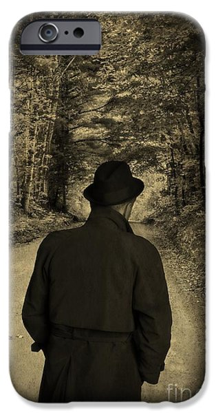 Detectives iPhone Cases - Hard-Boiled Detective Novel iPhone Case by Edward Fielding