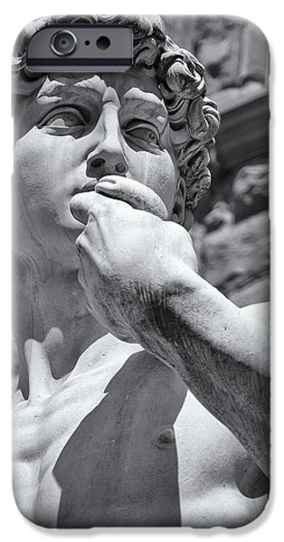 Statue Portrait iPhone Cases - Determination iPhone Case by Melany Sarafis