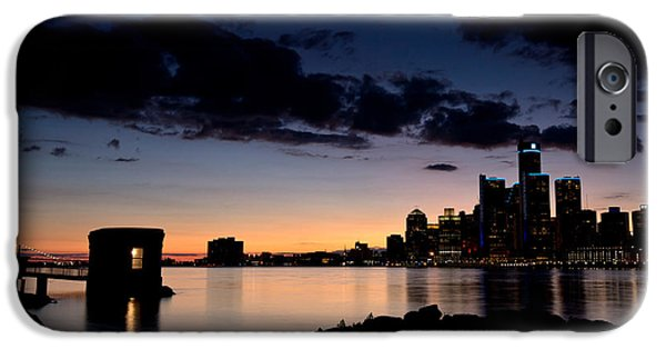 Windsor iPhone Cases - Detroit and Windsor iPhone Case by Cale Best