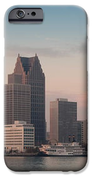 Detroit at dusk iPhone Case by Andreas Freund