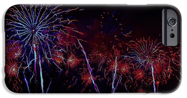4th Of July iPhone Cases - Detroit Fireworks 5 iPhone Case by Jennifer McGuire