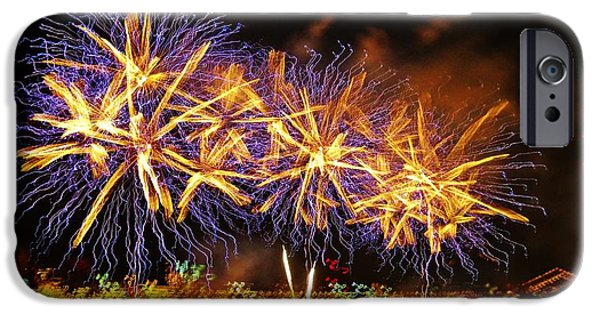 4th Of July iPhone Cases - Detroit Firworks 2 iPhone Case by Jennifer McGuire
