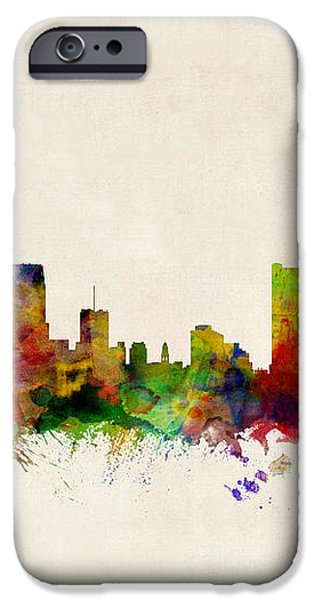 Detroit Michigan Skyline iPhone Case by Michael Tompsett