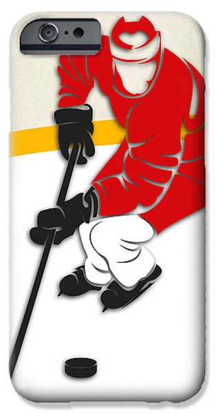 Red Wings iPhone Cases - Detroit Red Wings Rink iPhone Case by Joe Hamilton