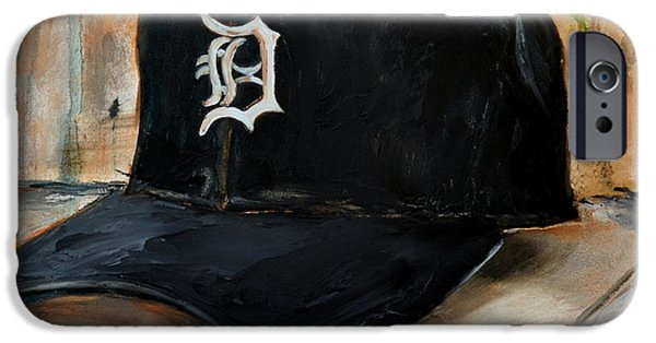 Baseball Art iPhone Cases - Detroit Tigers iPhone Case by Lindsay Frost