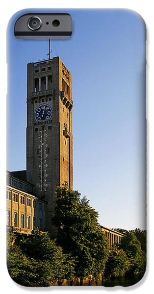 Interior Scene iPhone Cases - Deutsches Museum Munich - Meteorological Tower iPhone Case by Christine Till