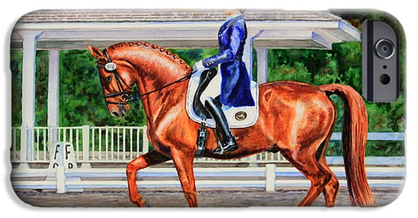 Equestrian Center iPhone Cases - Developing Passage iPhone Case by Kristine Plum