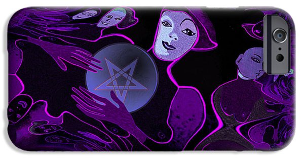 Fallen Angels iPhone Cases - Devils  Angels - 257 iPhone Case by Irmgard Schoendorf Welch
