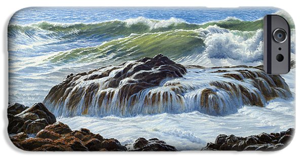 Oregon Coast iPhone Cases - Devils Churn Area-Oregon Coast iPhone Case by Paul Krapf