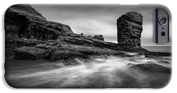 North Sea iPhone Cases - Devils Head iPhone Case by Dave Bowman