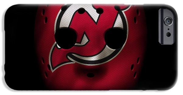 Devil iPhone Cases - Devils Jersey Mask iPhone Case by Joe Hamilton