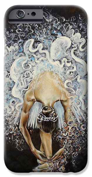 Human Figure iPhone Cases - Devotion iPhone Case by Karina Llergo Salto