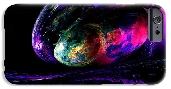 Pleasure Digital Art iPhone Cases - Dew of a Rainbow iPhone Case by Alexander Butler