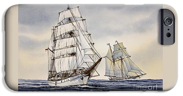Tall Ship iPhone Cases - Dewaruci iPhone Case by James Williamson