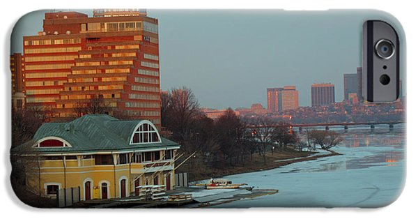 Best Sellers -  - Charles River iPhone Cases - DeWolfe Boathouse Riverside iPhone Case by Barbara McDevitt