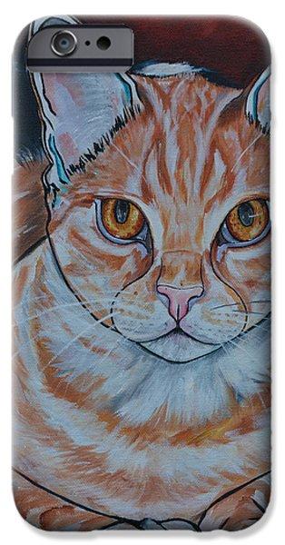 Domestic Short Hair Cat iPhone Cases - Dexter iPhone Case by Patti Schermerhorn