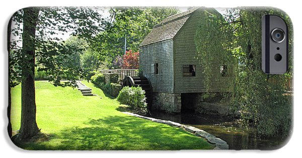 Grist Mill iPhone Cases - Dexters Grist Mill iPhone Case by Barbara McDevitt