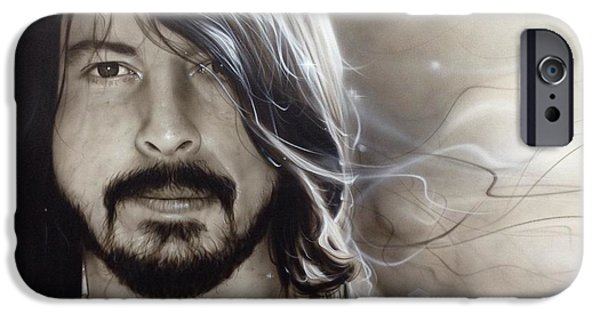 Dave Grohl iPhone Cases - d.g. iPhone Case by Christian Chapman Art